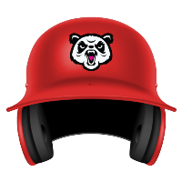 Pandas digital fantasy baseball mini helmet