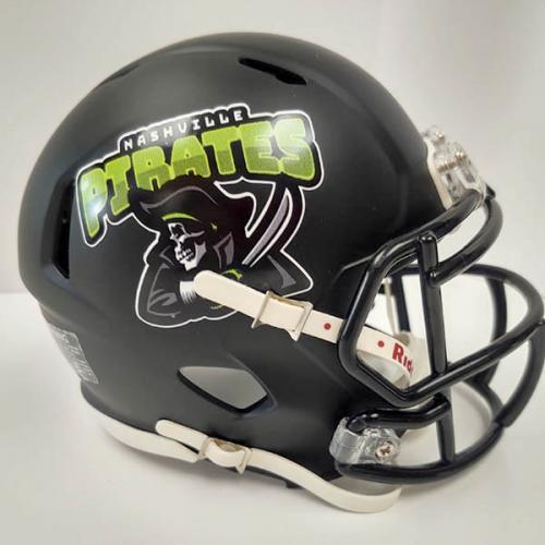 Nashville Pirates fantasy football mini helmet