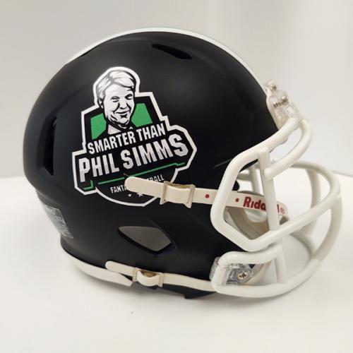Smarter Than Phil Simms fantasy football mini helmet