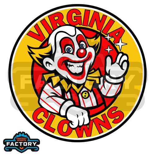Virginia Clowns Custom Fantasy Football Logo